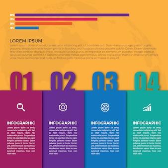 Vector de visualización de datos de elementos de infografía