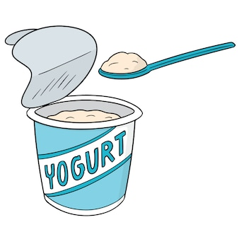 Vector de yogurt