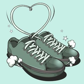 Vector de zapatillas de deporte