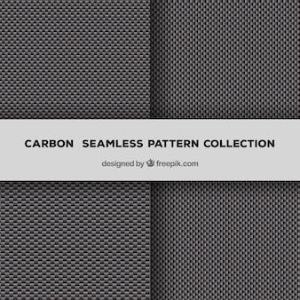 Vectores de carbono sin costura patrón de fibra
