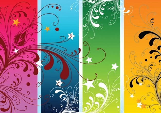 Vectores coloridos naturaleza