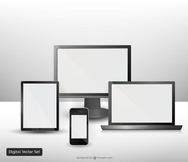 Vectores de dispositivos electrónicos