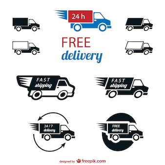 Vectores de entrega gratuita