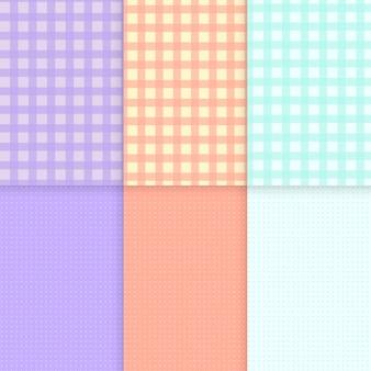 Vectores de fondo pastel de patrón mixto