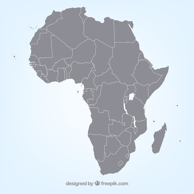 Vectores mapa de áfrica
