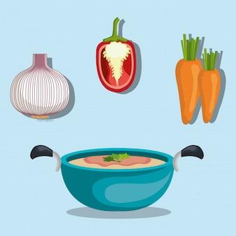 Vegetales de comida saludable
