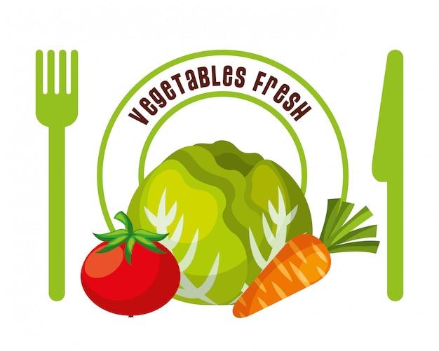Vegetales frescos alimentos
