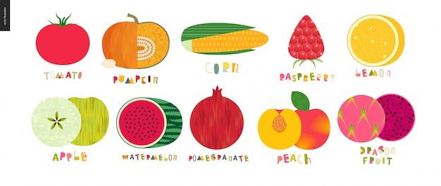 Vegetales y frutas