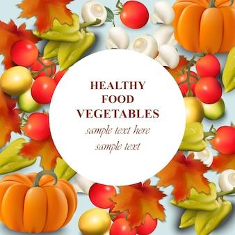 Vegetales saludables sobre fondo blanco realista