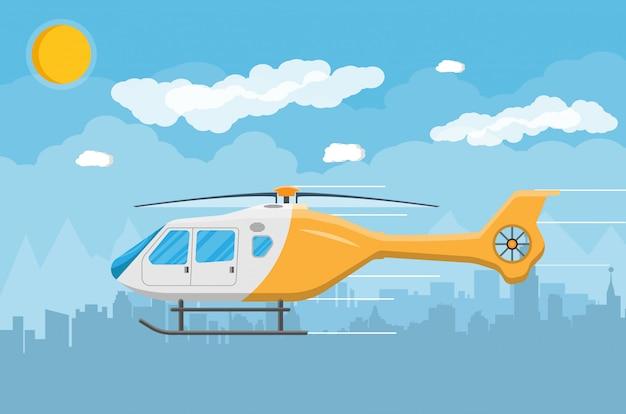 Vehículo aéreo de transporte en helicóptero con hélice