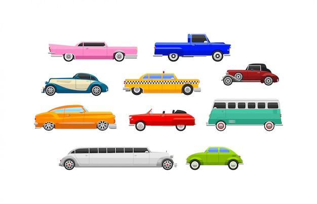 Vehículo retro coche vector