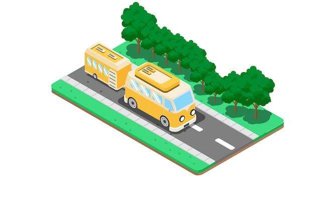 Vehículos de camping y caravanas.