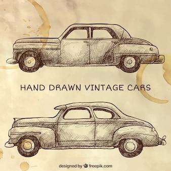 Vehículos urbanos en estilo vintage