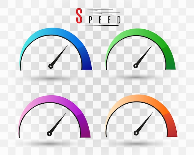 Velocidad de internet. símbolo de velocidad del logo.