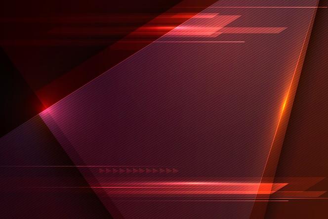 Velocidad y movimiento futurista fondo rojo