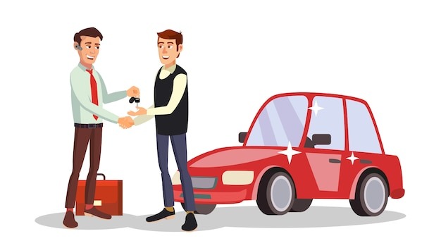Vendedor de coches hombre