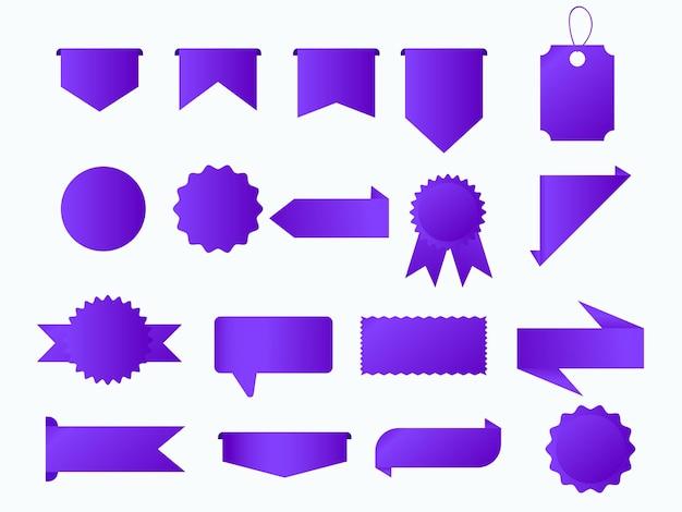 Venta banner etiqueta y vector de etiqueta
