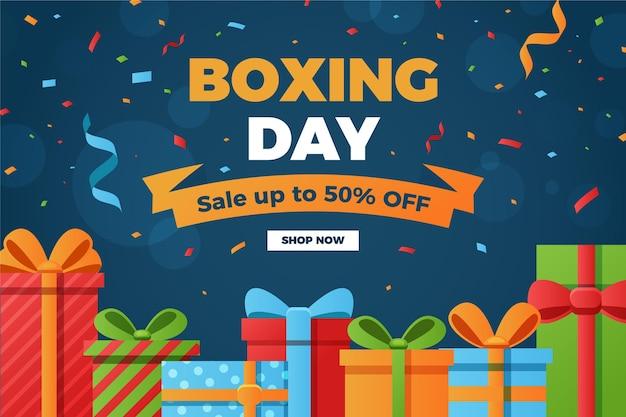 Venta de boxing day en diseño plano.