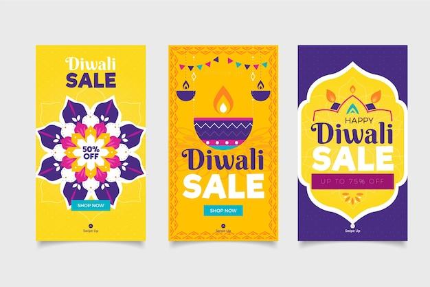 Venta de celebración de diwali historias de instagram