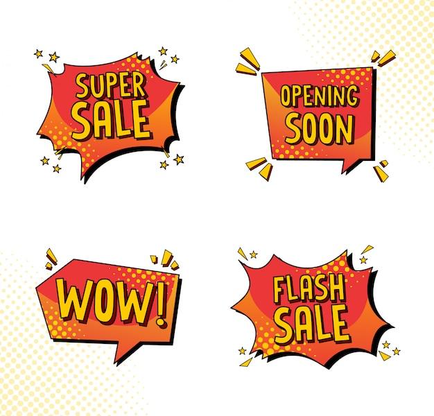 Venta colección de burbujas de discurso en estilo cómico