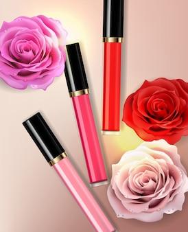 Venta de cosméticos de brillo labial