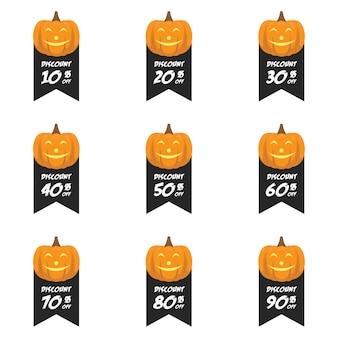Venta de descuento de halloween