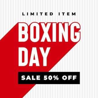 Venta del día del boxeo 50% de descuento banner