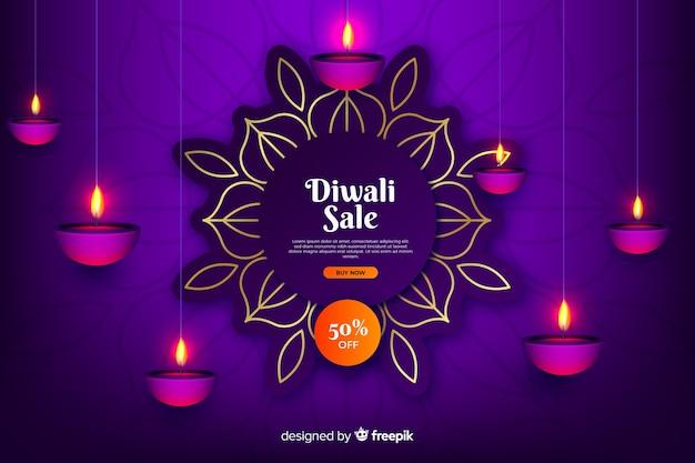 Venta de diwali en estilo degradado