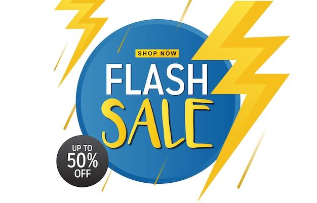 Venta flash descuento oferta promoción web app banner vector illustration