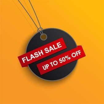 Venta flash con etiqueta de precio promoción tamplate