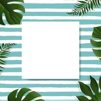 Venta con fondo de hojas tropicales