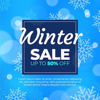 Venta de invierno borrosa con oferta especial