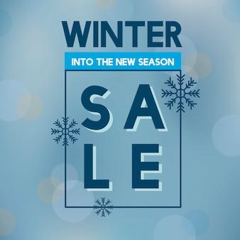 Venta de invierno en el nuevo vector de temporada.
