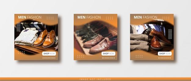 Venta de moda moderna publicación de instagram y plantilla de banner de redes sociales