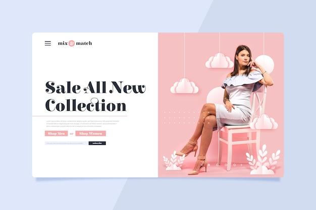 Venta de moda - página de inicio