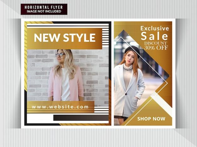 Venta de moda volante horizontal