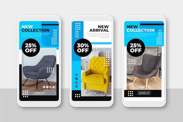 Venta de muebles colección de historias de instagram