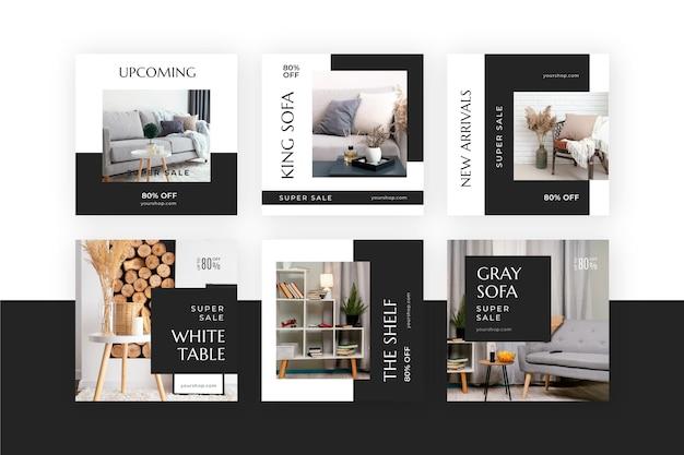Venta de muebles colección de publicaciones de instagram