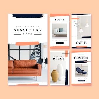 Venta de muebles historias de ig ambientadas con imagen