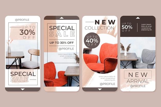 Venta de muebles historias de instagram
