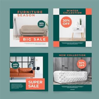 Venta de muebles ig post pack con foto