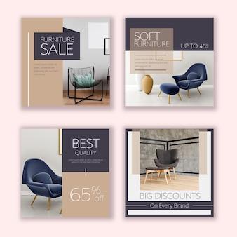 Venta de muebles ig post set con foto