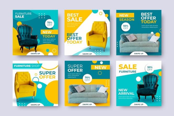 Venta de muebles ig post set con imagen