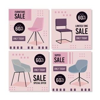 Venta de muebles paquete de publicaciones de instagram