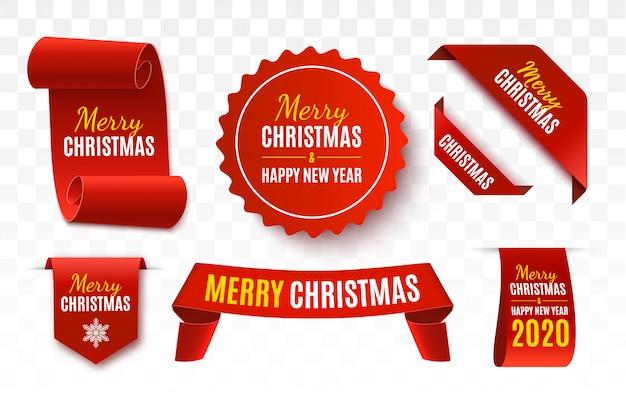 Venta de navidad etiquetas. bandera del vector