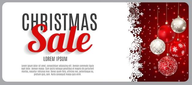Venta de navidad, fondo de banner de vale de descuento. tarjeta de descuento comercial. ilustración vectorial eps10