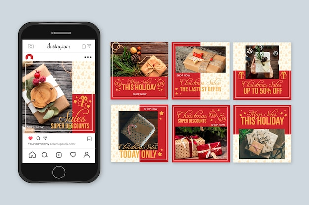 Venta de navidad instagram post collection