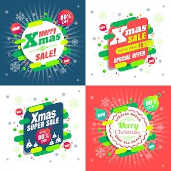 Venta de navidad oferta especial promoción banner
