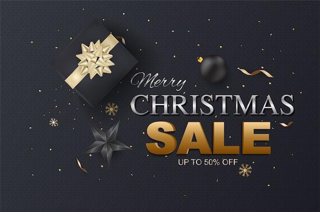 Venta de navidad y plantillas de descuentos de temporada