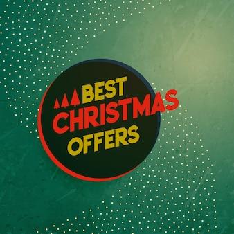 Venta de navidad vintage y ofrece fondo